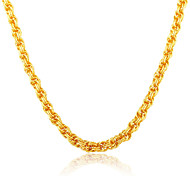 Shining Chinese Knot 18K Gold Plated Jewelry Wholesale New Trendy Link Chain Necklace Gift for Women Jewelry N50125