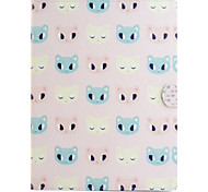 Cartoon Cat  Chimes Coloured Drawing or Pattern PU Leather Folio Case Tablet Holster for iPad 4/3/2