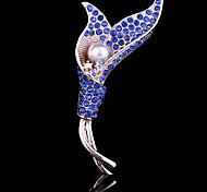 Недорогие -Жен. Очаровательный Для вечеринки Для офиса На каждый день Мода Цирконий Искусственный бриллиант Сплав Белый Синий Бижутерия Назначение