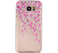 Peach blossom Pattern TPU Relief Back Cover Case for Galaxy S7/Galaxy S7 Edge/Galaxy S7 Edge Plus