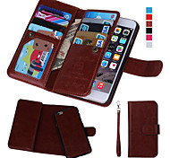 abordables -Funda Para Apple iPhone 8 iPhone 8 Plus iPhone 6 iPhone 6 Plus iPhone 7 Plus iPhone 7 Soporte de Coche Cartera con Ventana Flip Funda de
