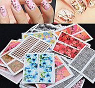 50PCS Various Design And Colour  Nail Stickers Decals Manicure Watermark Nail Stickers