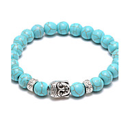 Bead Bracelet Turquoise Volcano two Stone Head Strand Bracelet Power Blance  Christmas Gifts