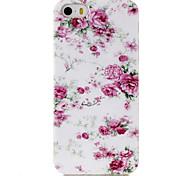 Недорогие -Кейс для Назначение Кейс для iPhone 5 С узором Задняя крышка Цветы Мягкий TPU для iPhone SE/5s iPhone 5