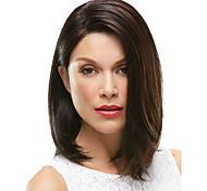 Недорогие -Парики из искусственных волос Прямой плотность Без шапочки-основы Жен. Коричневый Карнавальный парик Парик для Хэллоуина Средние
