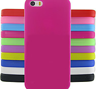 Solid Color Jelly Protection Silicone Back Cover Case Design Pattern For iPhone 5/5S (Assorted Colors)