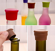 cheap -Candy Color Silicone Bottle Stopper Fresh Beer Food Grade Cork Cruet Random Color