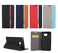 Недорогие -Кейс для Назначение SSamsung Galaxy Samsung Galaxy Note Бумажник для карт со стендом Флип Чехол Полосы / волосы Кожа PU для Note 5 Note 4
