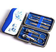 Fashion Blue And White Porcelain Nail Art Tools Set, Nail Clipper Earpick Eyebrow Tweezer Travel Manicure Set