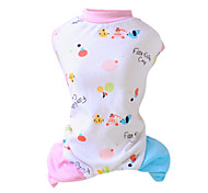 Cat Dog Jumpsuit Pajamas Dog Clothes Fashion Cartoon Yellow Pink Costume For Pets