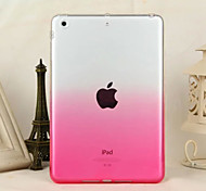 cheap -Case For iPad Mini 3/2/1 Transparent Back Cover Color Gradient TPU for iPad Mini 3/2/1