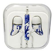 высокая стерео гарнитура в ухе наушник металла громкой связи наушники с микрофоном 3,5 мм наушники для плеера Самсунга Iphone