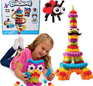 новый bunchems хороший пакет новое здание игрушка 370 штук поделок дети играют 36 комплект принадлежностей детей лучший подарок