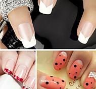 Недорогие -1 Руководство по французским советам 3D-стикеры для ногтей Мода Милый Повседневные Высокое качество