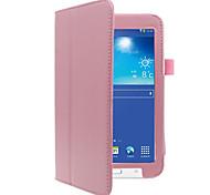 Недорогие -чехол для галактики Samsung полный корпус чехлы для планшетов твердая цветная твердая кожа pu для вкладки 3 lite t110