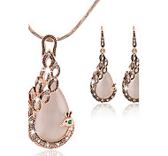 cheap -Women's Jewelry Set Cute Party Work Fashion Party Special Occasion Anniversary Birthday Engagement Gift Synthetic Gemstones Cubic