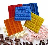Brick Style Square Sharped Silicone Ice Mold Building Blocks Ice Tray DIY(Random Color)