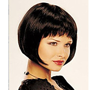 cheap -Synthetic Wig Straight Short Bob Bob Haircut With Bangs Women's Capless Natural Wigs Short Synthetic Hair