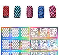 Недорогие -1 Трафарет для маникюра 3D-акриловые формы для ногтей Цветы Мода Повседневные Высокое качество