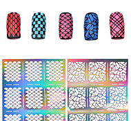 cheap -1 pcs Flower / Fashion Diecut Manicure Stencil / 3D Nail Acrylic Molds Daily / PVC(PolyVinyl Chloride)