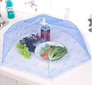 cheap -Kitchen Party Table Food Storage Cover Folding Umbrella Mesh Lace Metal Frame Random Color