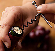 Stainless Steel Wine Bottle Opener Corkscrew Metal Keychain Outdoor Bottle Opener