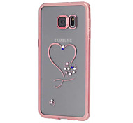 Heart Design Electroplating TPU Soft Diamond Case for Samsung Galaxy S7/S7 edge/S6/S6 edge/S6 edge Plus
