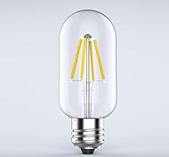 cheap -1pc 400 lm E26/E27 LED Filament Bulbs T 4 leds COB Waterproof Decorative Warm White AC 220-240V