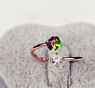 cheap -Women's Rhinestone / Alloy Statement Ring - Fashion Assorted Color Ring For Daily / Casual