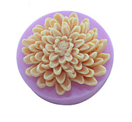 цветы хризантемы мыло плесень помады торт шоколадный силиконовые формы, отделочные инструменты посуда