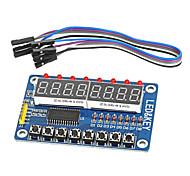 Недорогие -8-разрядный светодиодный цифровой трубки 8 ключей модуль дисплея tm1638 8-разрядный для АРН Arduino руку