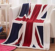 Недорогие -Шерсть Разноцветный Животные Кашемир одеяла 130*160cm