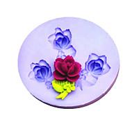 Недорогие -Новый DIY цветок силиконовые формы Фондант Пресс-формы Сахар Craft Инструменты Смола цветы Плесень пресс-формы для тортов