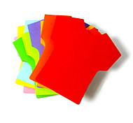 T-shirt Shaped Self-stick Note(2x20 Pages Random Color)