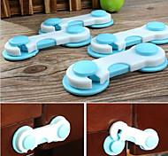 4Pcs Baby Kid Box Drawer Cupboard Cabinet Wardrobe Door Fridge Safe Safety Lock Random Color