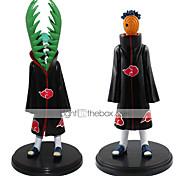 New Hot Sale 2pcs/Set Anime Figure PVC Toys Naruto Akatsuki Zetsu Uchiha Madara 19CM Collectible Kids Toys Gifts