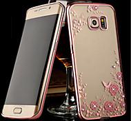 Electroplating Secret Garden Flower Diamond Phone Cases For Samsung Galaxy S5/S6/S6 Edge/S6 Edge+/S7/S7 Edge Case