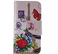 Недорогие -iphone 7 плюс цветок башни окрашены пу случай телефона для Iphone 6с 6 плюс SE 5с 5с 5 4s 4