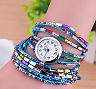 cheap -Women's Quartz Bracelet Watch Imitation Diamond Leather Band Charm Fashion Multi-Colored
