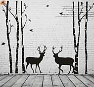 Недорогие -Абстракция Пейзаж Мода Геометрия фантазия Наклейки Простые наклейки Декоративные наклейки на стены, Винил Украшение дома Наклейка на стену