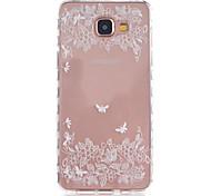 Für Samsung Galaxy Hülle Transparent / Muster Hülle Rückseitenabdeckung Hülle Blume TPU Samsung A5(2016) / A3(2016)