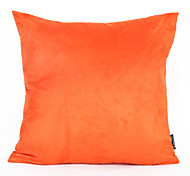 Недорогие -1pc 45 * 45cm оранжевый цвет замша подушка крышка дома украшения