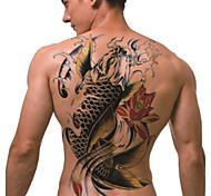 временную татуировку (полный назад) - кои (2 шт)