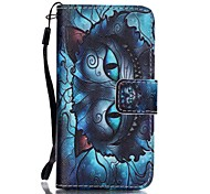 For iPhone 5 Case Card Holder / Wallet / with Stand / Flip / Pattern Case Full Body Case Cat Hard PU Leather iPhone SE/5s/5