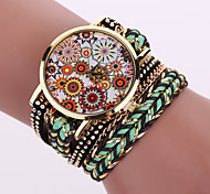 Women's Quartz Analog White Case Weave Leather Band Bracelet Wrist Fashion Watch Jewelry Cool Watches Unique Watches