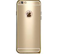 Для Кейс для iPhone 6 / Кейс для iPhone 6 Plus Покрытие / С узором Кейс для Задняя крышка Кейс для Один цвет Твердый МеталлiPhone 6s