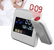 Fashion Digital LCD Screen Home Thermometer Alarm Clock Desk Alarm Clock with LED Projector Function(Assorted Color)