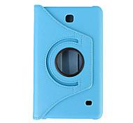 360 градусов вращая кожаный PU смарт-чехол для Galaxy Tab, Samsung при 7,0 / таб 4 7.0 / таб 3 7,0 / таб 3 облегченная (ассорти цветов)