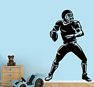 Romance / Fashion Rugby/ FOOTBALL People Wall Stickers  Sports Wall Stickers Plane Wall Stickers,VINYL 57*89cm