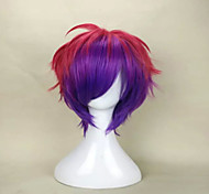 Capless Fashion Mix Color Short Curly  Party Wig Top Quality  Synthetic Hair Wig Man's Cosplay Wigs